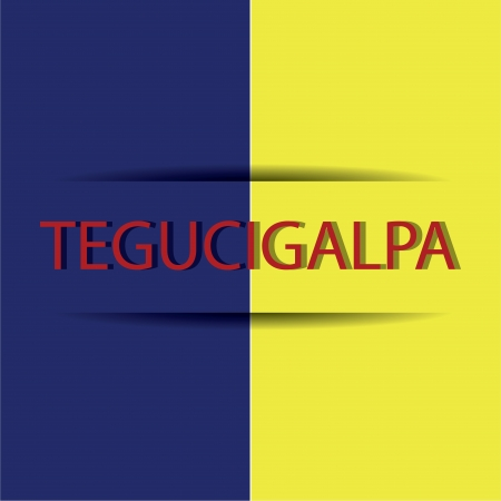 allusive: Tegucigalpa text on special allusive flag background