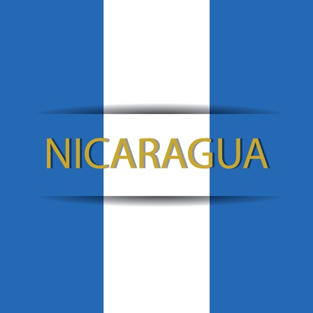 allusive: Nicaragua text on special background allusive to the flag