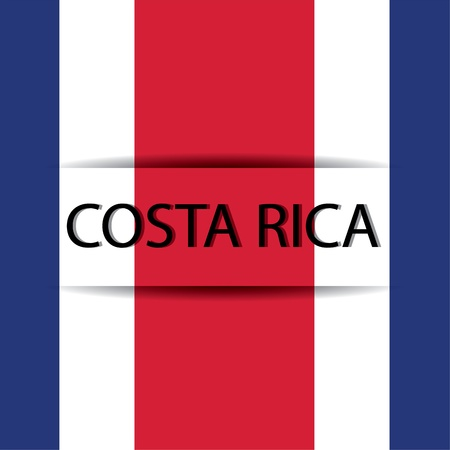 allusive: Costa Rica text on special background allusive to the flag