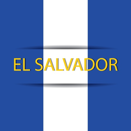 El salvador  text on special background allusive to the flag