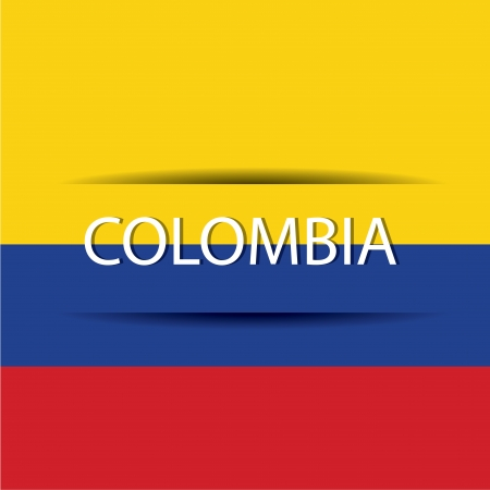 allusive: Colombia  text on special background allusive to the flag
