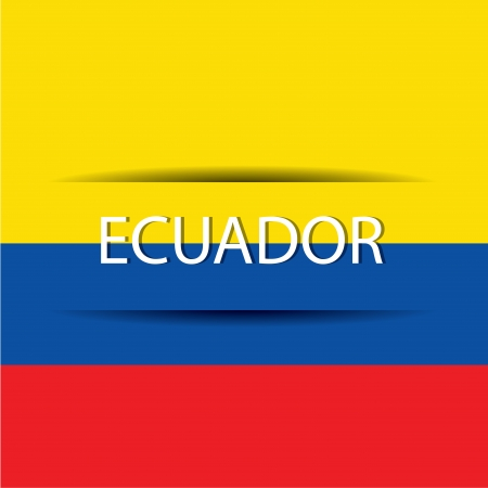 Ecuador  text on special background allusive to the flag