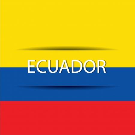 republic of ecuador: Ecuador  text on special background allusive to the flag