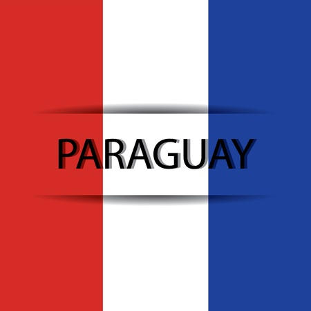 allusive: Paraguay  text on special background allusive to the flag Illustration