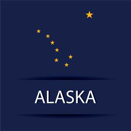 allusive: Alaska  text on special background allusive to the flag