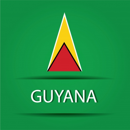 allusive: Guayana text on special background allusive to the flag