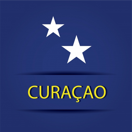 allusive: Cura�ao  text on special background allusive to the flag
