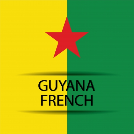 allusive: Guyana French text on special background allusive to the flag