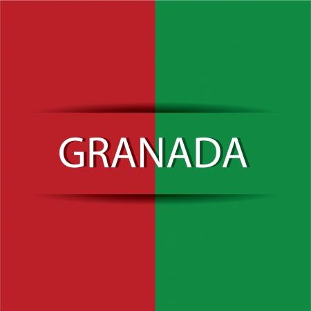 allusive: Granada  text on special background allusive to the flag