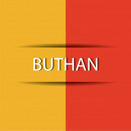 allusive: Buthan  text on special background allusive to the flag