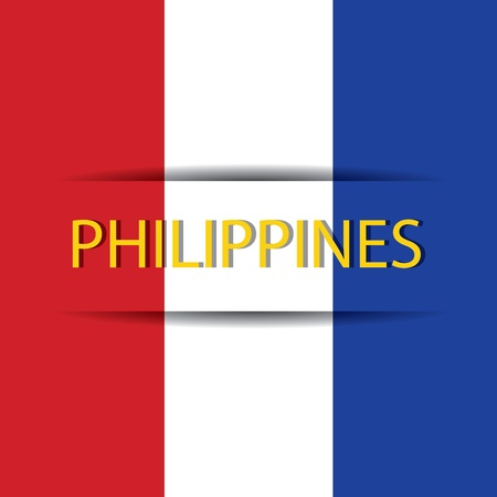 allusive: Philippines text on special background allusive to the flag