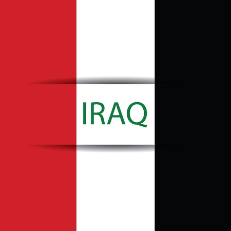 allusive: Iraq text on special background allusive to the flag Illustration
