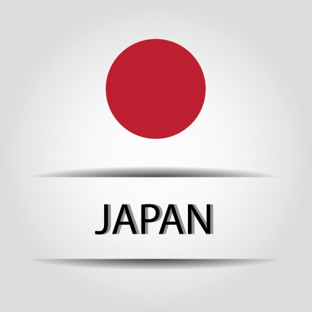 allusive: Japan text on special background allusive to the flag