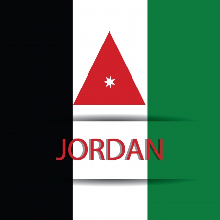allusive: Jordan text on special background allusive to the flag