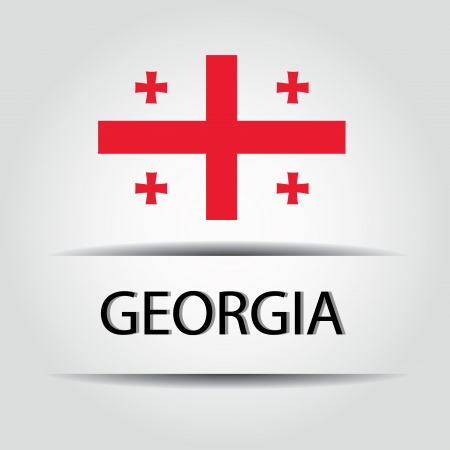 Georgia  text on special background allusive to the flag