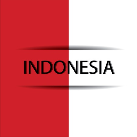 Indonesia  text on special background allusive to the flag