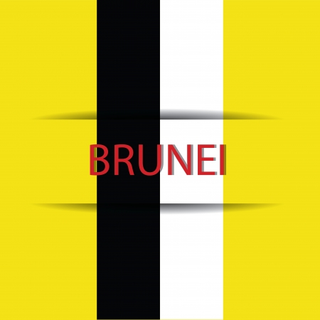 allusive: Brunei  text on special background allusive to the flag