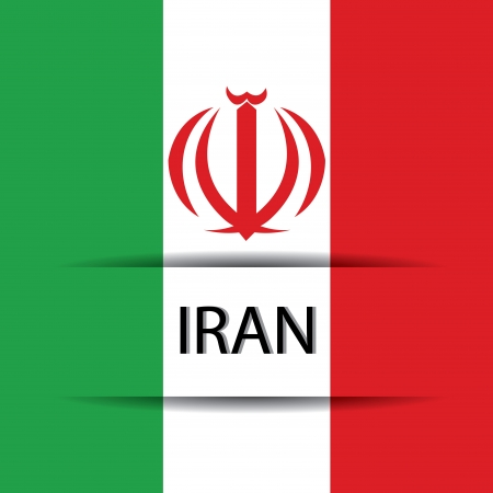 allusive: Iran text on special background allusive to the flag