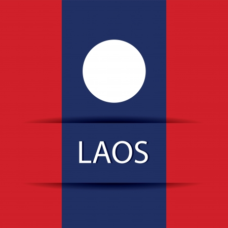 Laos text on special background allusive to the flag