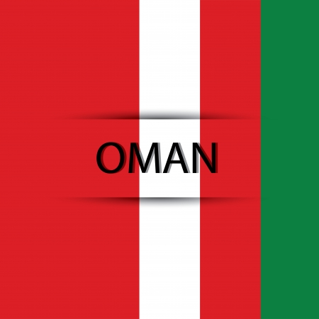 allusive: Oman text on special background allusive to the flag Illustration