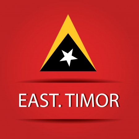 allusive: East Timor text on special background allusive to the flag Illustration