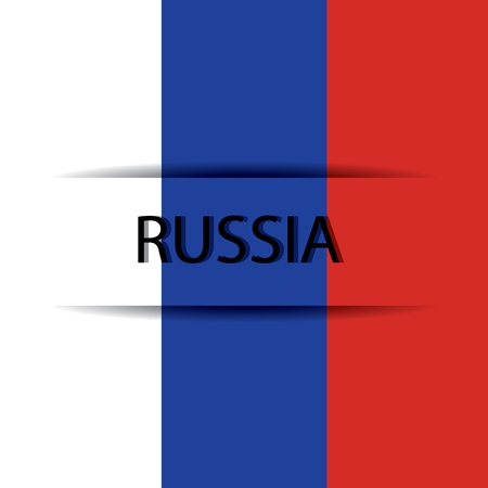 allusive: Russia text on special background allusive to the flag