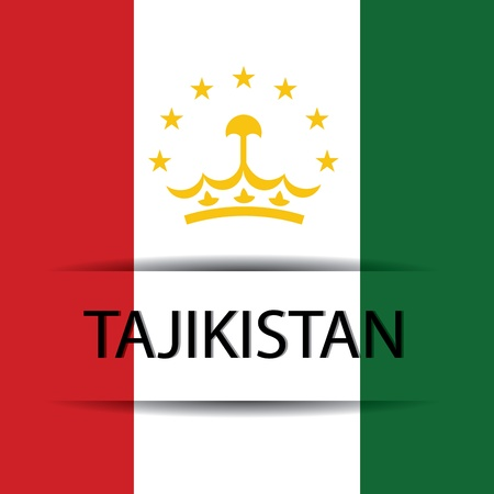 allusive: Tajikistan text on special background allusive to the flag