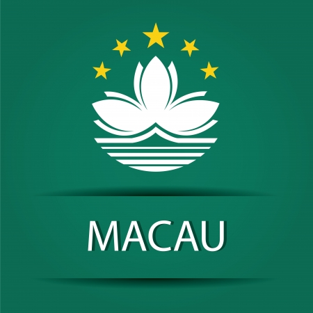 allusive: Macau text on special background allusive to the flag Illustration