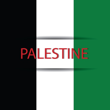 Palestine text on special background allusive to the flag