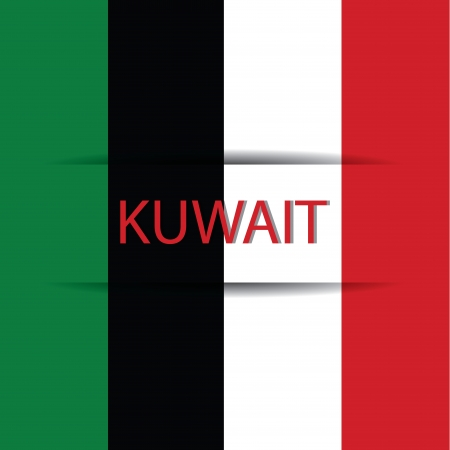allusive: Kuwait text on special background allusive to the flag