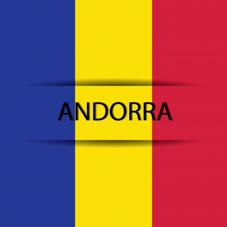 allusive: Andorra text on special background allusive to the flag Illustration
