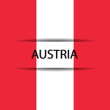 allusive: Austria text on special background allusive to the flag