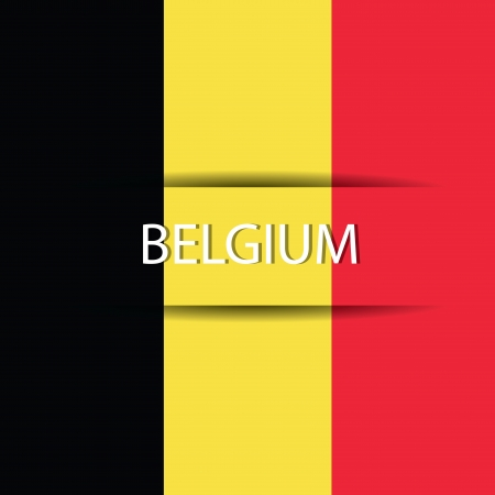 allusive: Belgium  text on special background allusive to the flag Illustration