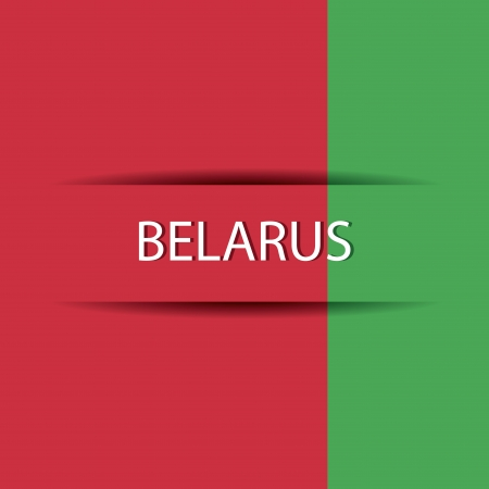 Belarus text on special background allusive to the flag Illustration