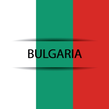 allusive: Bulgaria text on special background allusive to the flag Illustration