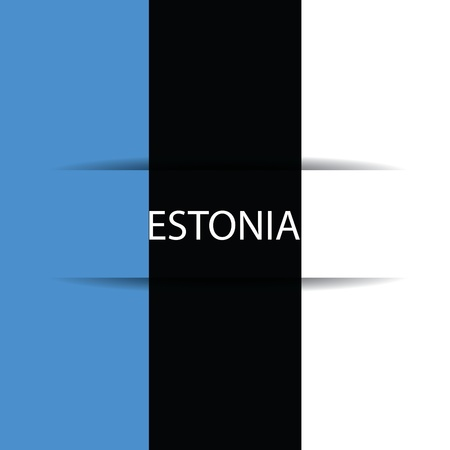 Estonia text on special background allusive to the flag