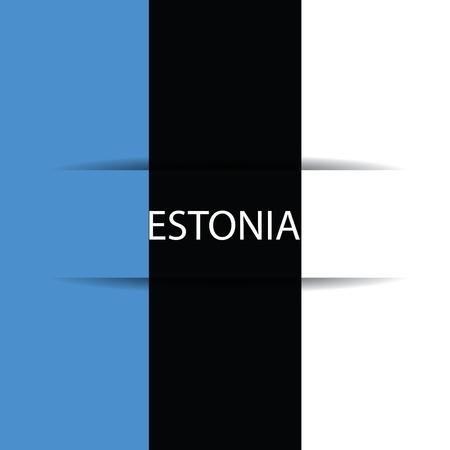 allusive: Estonia text on special background allusive to the flag