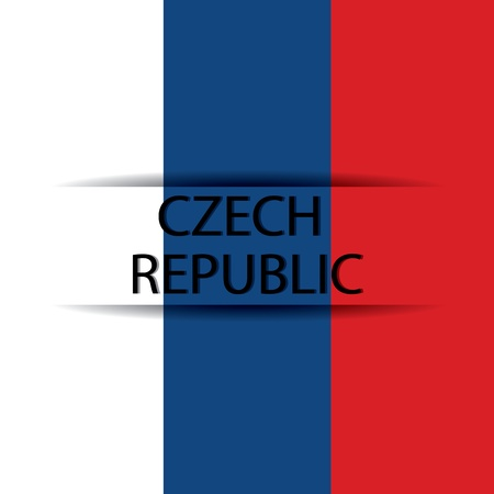 allusive: Czech Republic text on special background allusive to the flag