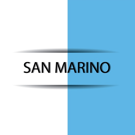 marino: San Marino text on special background allusive to the flag