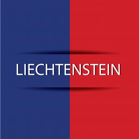 allusive: Liechtenstein text on special background allusive to the flag Illustration