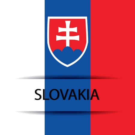 allusive: Slovakia text on special background allusive to the flag Illustration