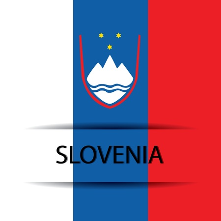 allusive: Slovenia text on special background allusive to the flag Illustration