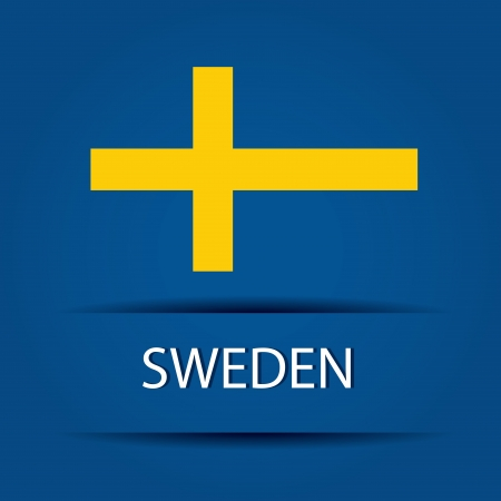 allusive: Sweden text on special background allusive to the flag