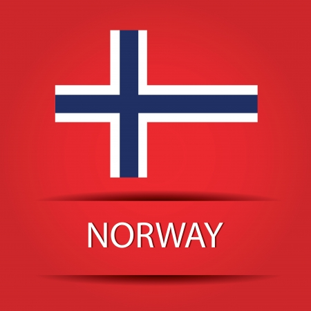 allusive: Norway text on special background allusive to the flag