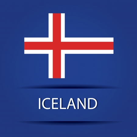Iceland text on special background allusive to the flag