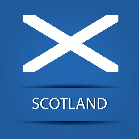 allusive: Scotland text on special background allusive to the flag Illustration