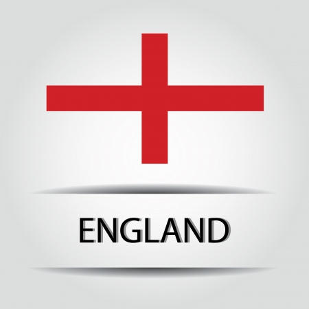 allusive: England  text on special background allusive to the flag