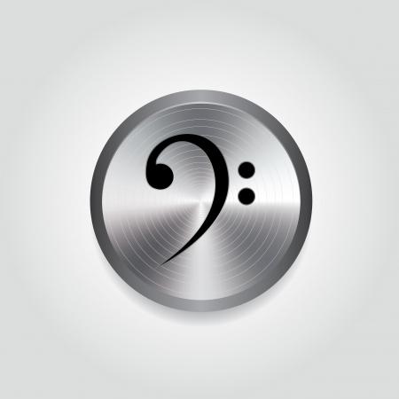 silver circle: Estratto nota di musica su speciali cerchio d'argento Vettoriali