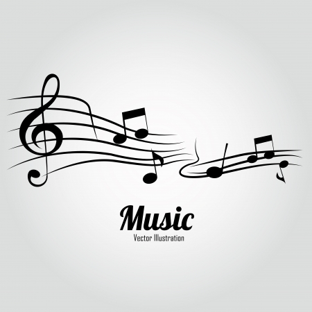music score: music notes on music score on white background