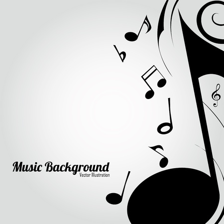 different music note making an abstract special background Vector